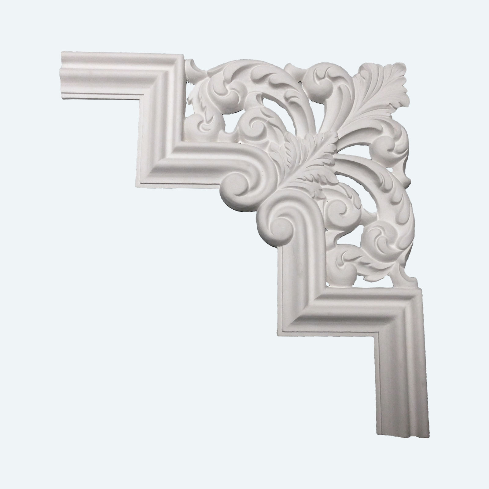 Hoekstukken plafond uit echt gips for Gips decor images